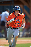 Houston Astros Drew Ferguson (20) during a minor league Spring Training game against the Detroit Tigers on March 30, 2016 at Tigertown in Lakeland, Florida.  (Mike Janes/Four Seam Images)