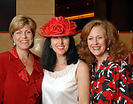 Robyn Barnes, Martha Plunkett and Jana Phillips at the American Heart Association Go Red for Women luncheon at the InterContinental Houston Monday May 04,2009.  (Dave Rossman/For the Chronicle)