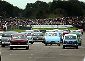 10th September 2017, Goodwood Estate, Chichester, England; Goodwood Revival Race Meeting; Cars start the warm up lap