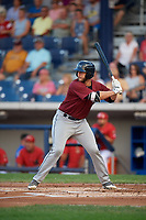 Mahoning Valley Scrappers designated hitter Simeon Lucas (41) at bat during a game against the Williamsport Crosscutters on August 28, 2018 at BB&T Ballpark in Williamsport, Pennsylvania.  Williamsport defeated Mahoning Valley 8-0.  (Mike Janes/Four Seam Images)