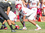 Palos Verdes, CA 10/21/16 - Jordan Jackson (Redondo Union #13) in action during the CIF Southern Section Bay League Redondo Union - Palos Verdes Peninsula game at Peninsula High School.