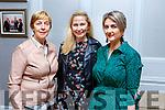 Tina Dineen (Balloonagh Est), Georgina Hobbert (Tralee) and Imelda Roche (Abbeydorney) supporting the Ballmac GAA Fundraiser at the Rose Hotel on Sunday.