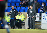 St Johnstone v St Mirren....22.01.11  .Danny Lennon and Derek McInnes.Picture by Graeme Hart..Copyright Perthshire Picture Agency.Tel: 01738 623350  Mobile: 07990 594431