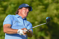 Phil Mickelson (USA) watches his tee shot on 12 during 1st round of the 100th PGA Championship at Bellerive Country Cllub, St. Louis, Missouri. 8/9/2018.<br /> Picture: Golffile | Ken Murray<br /> <br /> All photo usage must carry mandatory copyright credit (© Golffile | Ken Murray)