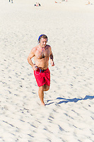 Andrew O'Keefe Training on Bondi Beach after Neck Surgery