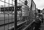 Boy on the Holgate End Fence, Boro 1 Sheffield Wednesday 1, 24th October 1992. Photo by Paul Thompson