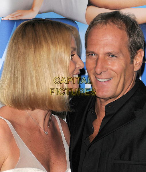 NICOLLETTE SHERIDAN & MICHAEL BOLTON.Attends New Line Cinema's L.A. Premiere of Over Her Dead Body held at The Arclight Theatre in Hollywood, California, USA, January 29th 2008..portrait headshot profile side bob hair couple Nicolette.CAP/DVS.©Debbie VanStory/Capital Pictures