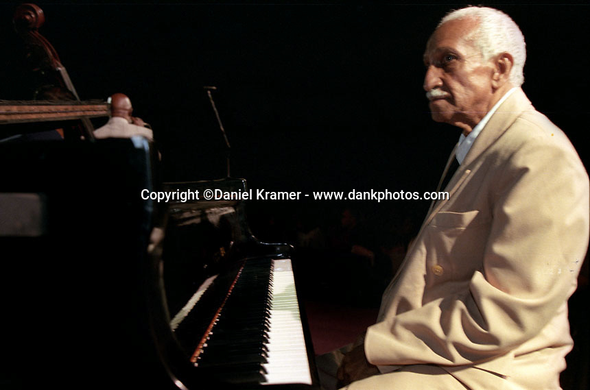 Ruben Gonzalez performs live on stage with the Buena Vista Social Club musical collective in Havana after the 1999 Cuban premiere of the Buena Vista Social Club film by German directer Wim Wenders. Gonzalez died in 2003 at age 84.