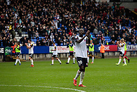 Bolton Wanderers' Yoan Zouma acknowledges the applause from the crowd at the end of the match<br /> <br /> Photographer Andrew Kearns/CameraSport<br /> <br /> The EFL Sky Bet Championship - Bolton Wanderers v Coventry City - Saturday 10th August 2019 - University of Bolton Stadium - Bolton<br /> <br /> World Copyright © 2019 CameraSport. All rights reserved. 43 Linden Ave. Countesthorpe. Leicester. England. LE8 5PG - Tel: +44 (0) 116 277 4147 - admin@camerasport.com - www.camerasport.com