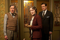 The King's Speech (2010) <br /> Colin Firth, Geoffrey Rush &amp; Jennifer Ehle<br /> *Filmstill - Editorial Use Only*<br /> CAP/MFS<br /> Image supplied by Capital Pictures