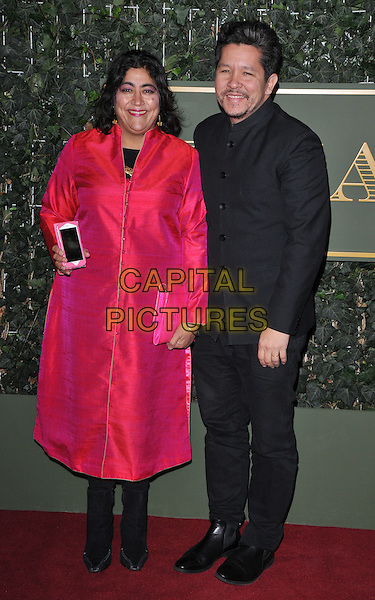 Gurinder Chadha &amp; Paul Mayeda Berges attend the London Evening Standard Theatre Awards 2015, The Old Vic, The Cut, London, England, UK, on Sunday 22 November 2015.<br /> CAP/CAN<br /> &copy;CAN/Capital Pictures