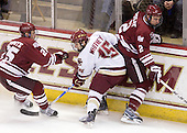 Michael Lecomte (UMass - 25), Joe Whitney (BC - 15), Martin Nolet (UMass - 2) - The Boston College Eagles defeated the University of Massachusetts-Amherst Minutemen 2-1 (OT) on Friday, February 26, 2010, at Conte Forum in Chestnut Hill, Massachusetts.