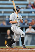 West Virginia Power second baseman Dan Gamache #10 swings at a pitch during a game between the West Virginia Power and the Asheville Tourists at McCormick Field, Asheville, North Carolina April 9, 2012. The Tourists won 13-5  8-4  (Tony Farlow/Four Seam Images)..
