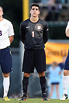 21 September 2012: Virginia's Spencer LaCivita. The University of North Carolina Tar Heels defeated the University of Virginia Cavaliers 1-0 at Fetzer Field in Chapel Hill, North Carolina in a 2012 NCAA Division I Men's Soccer game.