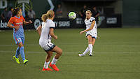 Portland, Oregon - Wednesday September 7, 2016: Portland Thorns FC midfielder Allie Long (10) passes out of midfield during a regular season National Women's Soccer League (NWSL) match at Providence Park.