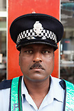 MAURITIUS; street portrait of a policeman in Port Louis