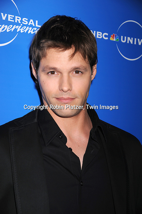 """Justin Bruening of """"Knight Rider..posing for photographers at The NBC Universal Upfront Announcement of their Fall 2008-2009 schedule on ..May 12, 2008 at Rockefeller Center. Stars from NBC, USA, Bravo, Scifi, Oxygen, Telemundo and mun2 were there. ....Robin Platzer, Twin Images"""