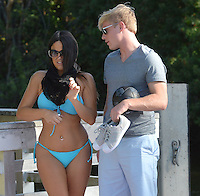 www.acepixs.com<br /> <br /> February 12 2017, Miami<br /> <br /> Italian model and star of French Reality show Secret Story 9 Claudia Romani seen kissing her new boyfriend Christopher Johns on February 12, 2017 in Miami, Florida<br /> <br /> By Line: Solar/ACE Pictures<br /> <br /> ACE Pictures Inc<br /> Tel: 6467670430<br /> Email: info@acepixs.com<br /> www.acepixs.com