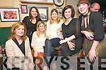 Mary Lynch, Pauline Scanlon, Hillary Johnson, Caroline Sheehy, Sinead Ní Churnain and Aoife Granville at the 1997 Class Dingle Reunion at McCarthy's, Dingle, on Thursday night.