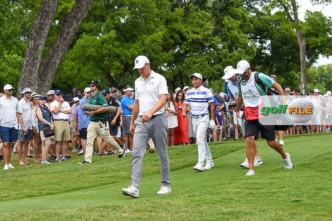 Jordan Spieth (USA) heads down 3 during round 3 of the 2019 Charles Schwab Challenge, Colonial Country Club, Ft. Worth, Texas,  USA. 5/25/2019.<br /> Picture: Golffile | Ken Murray<br /> <br /> All photo usage must carry mandatory copyright credit (© Golffile | Ken Murray)