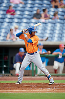 St. Lucie Mets second baseman Luis Carpio (11) at bat during a game against the Clearwater Threshers on August 11, 2018 at Spectrum Field in Clearwater, Florida.  St. Lucie defeated Clearwater 11-0.  (Mike Janes/Four Seam Images)