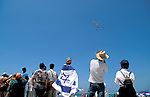 Israel, Tel Aviv. The Air Force show on Independence Day