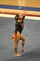8 April 2006: Stanford's Liz Tricase during the NCAA West Regional women's gymnastics championships at Maples Pavilion in Stanford, CA.