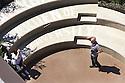 Two visitors in the Garden of Biodiverity at midday in Expo 2015, Rho-Pero, Milan, June 2015. &copy; Carlo Cerchioli<br /> <br /> Due visitatori nel giardino della biodiversit&agrave; a mezzogiorno all'Expo 2015, Rho-Pero, Milano, giugno 2015.