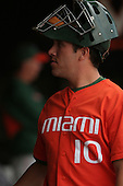 Richard O'Brien of the Miami Hurricanes vs. the Virginia Cavaliers: March 24th, 2007 at Davenport Field in Charlottesville, VA.  Photo copyright Mike Janes Photography 2007.