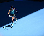 Eugenie Bouchard (CAN) defeats Ana Ivanovic (SRB) 5-7, 7-5, 6-2 at the Australian Open in Melbourne, Australia on January 21 2014