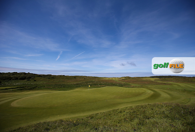 View of the 12th during Round One of the Match Play at The Amateur Championship 2014 from Royal Portrush Golf Club, Portrush, Northern Ireland. Picture:  David Lloyd / www.golffile.ie