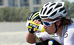 World Champion Peter Sagan (SVK) Tinkoff-Saxo cools down during Stage 2, The Capital Stage, of the 2015 Abu Dhabi Tour running 129 km from Yas Marina Circuit to Yas Mall, Abu Dhabi. 9th October 2015.<br /> Picture: ANSA/Claudio Peri | Newsfile