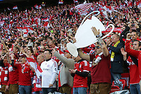 25.05.2013, Wembley Stadion, London, ENG, UEFA Champions League, FC Bayern Muenchen vs Borussia Dortmund, Finale, im Bild Fans FC Bayern Muenchen // during the UEFA Champions League final match between FC Bayern Munich and Borussia Dortmund at the Wembley Stadion, London, United Kingdom on 2013/05/25. EXPA Pictures © 2013, PhotoCredit: EXPA/ Eibner/ Gerry Schmit<br /> <br /> ***** ATTENTION - OUT OF GER ***** <br /> 25/5/2013 Wembley<br /> Football 2012/2013 Champions League<br /> Finale <br /> Borussia Dortmund Vs Bayern Monaco <br /> Foto Insidefoto