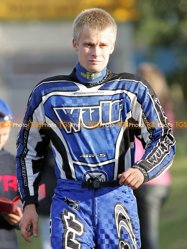 New Lakeside rider Lubos Tomicek makes his way to the pits - Lakeside Hammers vs Reading Bulldogs - Elite League Speedway at Arena Essex - 20/06/07 - MANDATORY CREDIT: Gavin Ellis/TGSPHOTO - SELF-BILLING APPLIES WHERE APPROPRIATE. NO UNPAID USE -  Tel: 0845 0946026