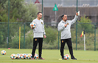 20190903 – TUBIZE , BELGIUM : Belgian Team Coach Johan Walem and physical coach Dominique Henin are pictured during a training session of the U21 youth team of the Belgian national soccer team Red Devils , a training session as a preparation for their first game against Wales in the qualification for the European Championship round in group 9 on the road for Hungary and Slovenia in 2021, Tuesday 3rd of September 2019 at the National training grounds in Tubize , Belgium. PHOTO SPORTPIX.BE | Sevil Oktem