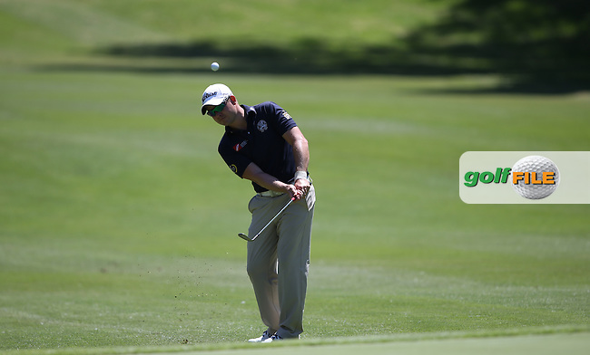 Paul Maddy (ENG) chips to the 12th during Round Two of the Tshwane Open 2015 at the Pretoria Country Club, Waterkloof, Pretoria, South Africa. Picture:  David Lloyd / www.golffile.ie. 13/03/2015