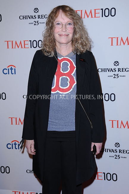 WWW.ACEPIXS.COM . . . . . .April 23, 2013...New York City....Mia Farrow attends TIME 100 Gala, TIME'S 100 Most Influential People In The World at Jazz at Lincoln Center on April 23, 2013 in New York City ....Please byline: KRISTIN CALLAHAN - ACEPIXS.COM.. . . . . . ..Ace Pictures, Inc: ..tel: (212) 243 8787 or (646) 769 0430..e-mail: info@acepixs.com..web: http://www.acepixs.com .