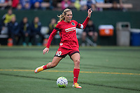 Seattle, Washington - Saturday May 14, 2016: Portland Thorns FC midfielder Allie Long (10) during the first half of a match at Memorial Stadium on Saturday May 14, 2016 in Seattle, Washington. The match ended in a 1-1 draw.