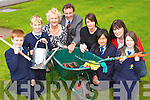 The St Olivers NS parents committee presented plants and garden tools to the pupils and the school last Friday l-r: Max Huggard, Kieran O'Connor, Una Fitzgerald, Rory Darcy Principal, Tracy Coyne Anuka Altansan, Ann Marie Kennelly Chairperson and Leah McMonagl..