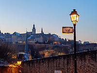 Blick vom Rham-Plateau auf Altstadt, Luxemburg-City, Luxemburg, Europa, UNESCO-Weltkulturerbe<br />