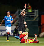 Red Card for Chris Erskine