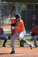 Houston Astros Chase McDonald (66) during a minor league spring training game against the Atlanta Braves on March 29, 2015 at the Osceola County Stadium Complex in Kissimmee, Florida.  (Mike Janes/Four Seam Images)