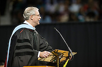 State higher education commissioner Glenn F. Boyce spoke to Mississippi State graduates during spring commencement exercises Friday and Saturday [May 6-7] in Humphrey Coliseum. He told the more than 2,600 candidates for degrees to dare greatly and change the world. <br />