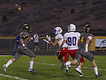 Reno's #9 Will Barnard makes the catch agaist Galena in their football game played on Friday night Sept. 16, 2016 at Galena High School.
