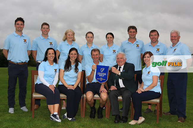 The Tullamore Team are the winners of the Irish Mixed Foursomes Leinster Final at Millicent Golf Club, Clane, Co. Kildare. 06/08/2017<br /> Picture: Golffile   Thos Caffrey<br /> <br /> Back Row: <br /> Eoin Marsden, Matthew Grehan, Cait Cooney, Emily Donohue, Richelle O'Neill, Eoin Flanagan, Colm Cassidy and Martin Darcy.<br /> Front Row: <br /> Eilish O'Connell, Une Marsden, Joe Morris (Team Captain), John Ferriter (Chairman Leinster Branch GUI) and Fiona Flanagan.<br /> <br /> All photo usage must carry mandatory copyright credit      (&copy; Golffile   Thos Caffrey)