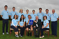 The Tullamore Team are the winners of the Irish Mixed Foursomes Leinster Final at Millicent Golf Club, Clane, Co. Kildare. 06/08/2017<br /> Picture: Golffile | Thos Caffrey<br /> <br /> Back Row: <br /> Eoin Marsden, Matthew Grehan, Cait Cooney, Emily Donohue, Richelle O'Neill, Eoin Flanagan, Colm Cassidy and Martin Darcy.<br /> Front Row: <br /> Eilish O'Connell, Une Marsden, Joe Morris (Team Captain), John Ferriter (Chairman Leinster Branch GUI) and Fiona Flanagan.<br /> <br /> All photo usage must carry mandatory copyright credit      (&copy; Golffile | Thos Caffrey)