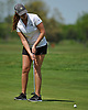 Tess Murphy of Holy Trinity putts on the 18th Hole of Eisenhower Park's Blue Course during the Nassau-Suffolk CHSAA girls golf championship on Tuesday, May 16, 2017. She took second place in the even with a 6-over 78.