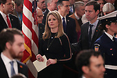 Jenna Bush Hager and her husband, Henry Hager, attend an arrival service for former U.S. President George H.W. Bush, Jenna's grandfather, in the U.S. Capitol Rotunda in Washington, U.S., December 3, 2018. REUTERS/Jonathan Ernst/Pool