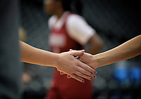 Dallas, TX - Friday March 31, 2017: Hands prior to the NCAA National Semifinal Game between the women's basketball teams of Stanford and South Carolina at the American Airlines Center.