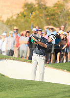 2nd February 2020, TPC Scottsdale, Arizona, USA;  Bubba Watson hits from a bunker on the second holeduring the final round of the Waste Management Phoenix Open